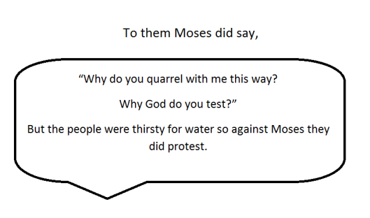 The children of Israel protest to Moses