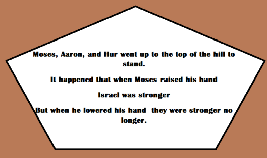 The children of Israel gain motivation from Moses